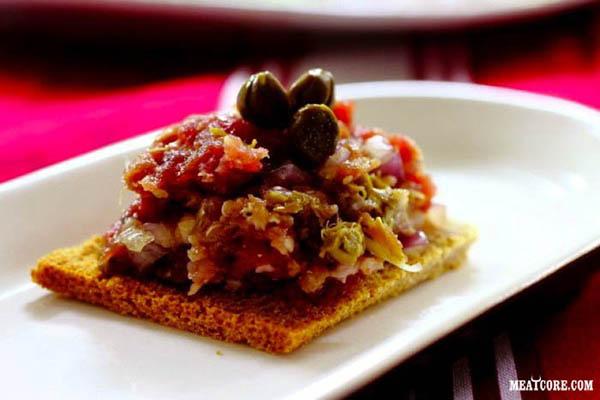 тартар из говядины рецепт в домашних условиях с фото