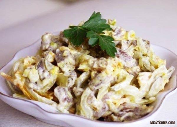 Салат из мяса рецепты с фото