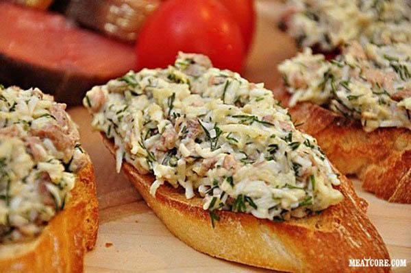 Бутерброды с печенью трески и сыром рецепты