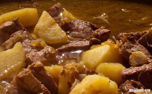 Как сделать рагу мясо с картошкой