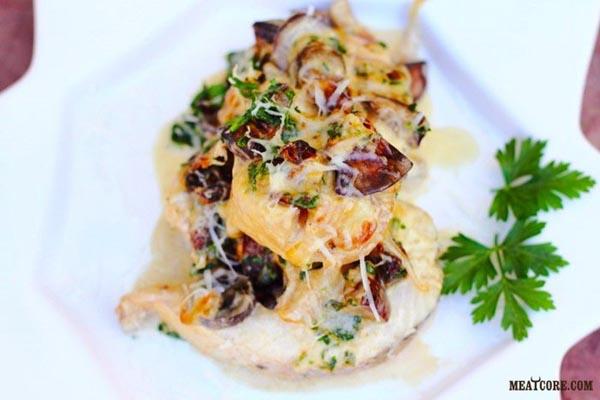 рецепт судак с грибами запеченный в духовке