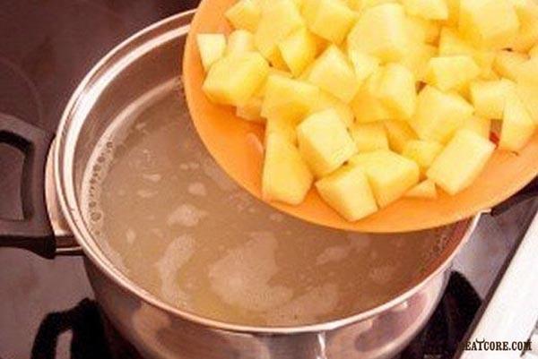 рецепт сырного супа с сосиской