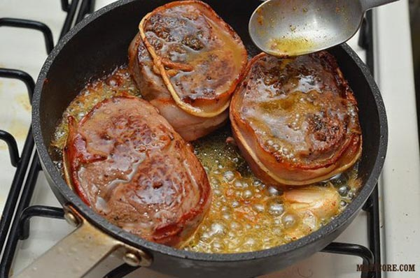 мясные медальоны из говядины