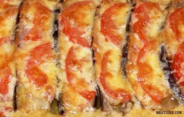 мясо под шубой в духовке с грибами рецепт