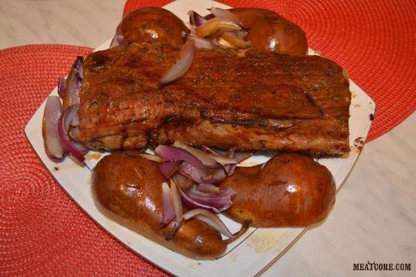 рецепт свиной лопатки в духовке в горчице с медом