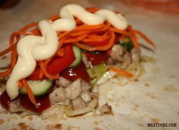 шаурма по домашнему рецепт с мясом