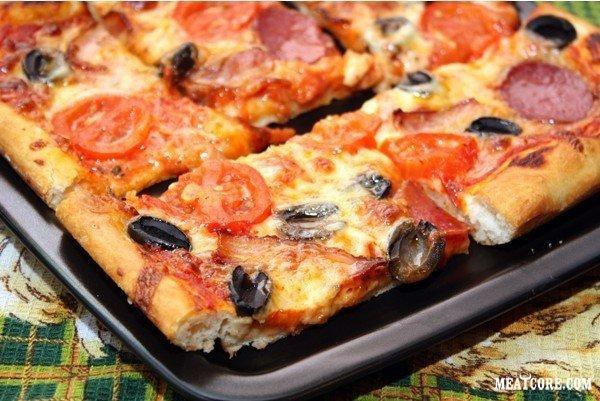 домашняя пицца в духовке рецепт без майонеза