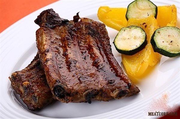 тушеные свиные ребрышки на сковороде рецепт с пошагово