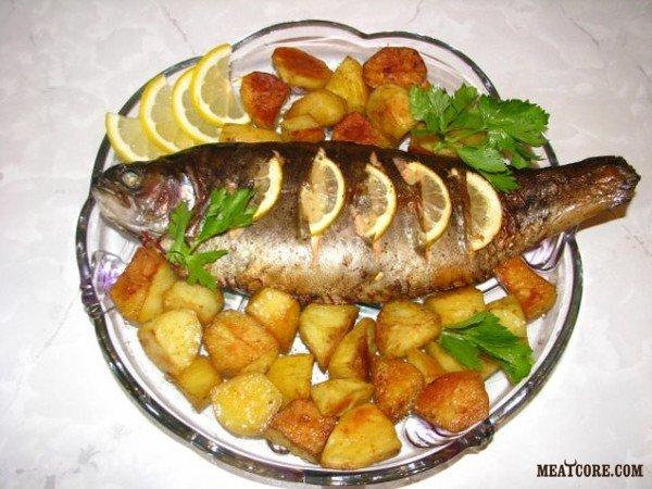 Вкусное блюдо из форели
