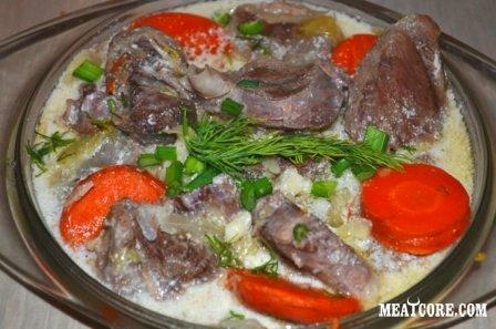 Готовим баранину с тмином, овощами и сметаной