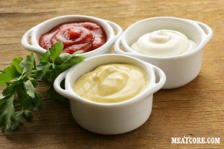 Соус для мяса из сметаны и майонеза