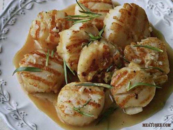Морские гребешки, приготовленные в лаймовом (лимонном) соке