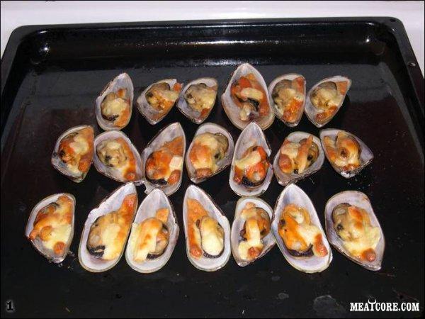 Приготовление блюда из мидий